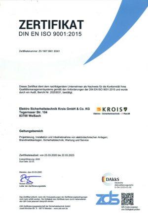 Zertifikat Krois